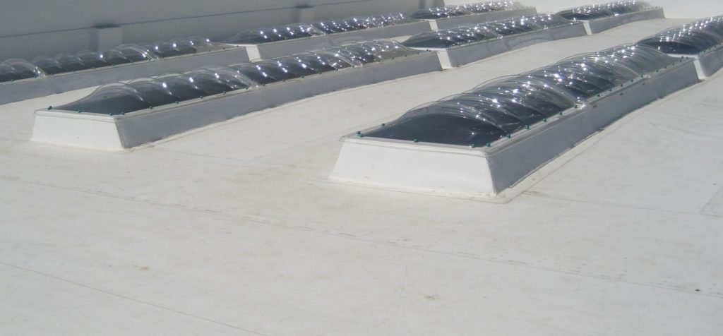 5 Star TPO roofing with skylights