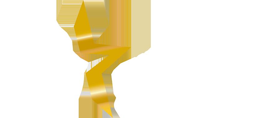 White logo white lettering